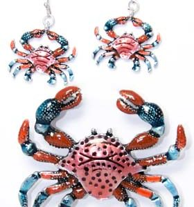 crab earring sets