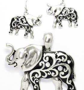elephant earring set