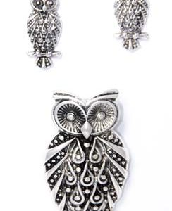 owl earring set