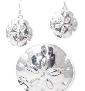 sand dollar earring set