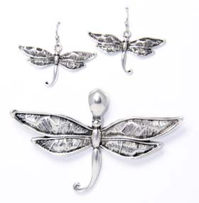 dragonfly earring set