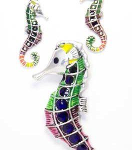 sea horse earring set