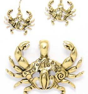 crab earring set