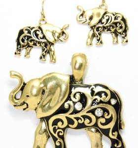 elephant earring set
