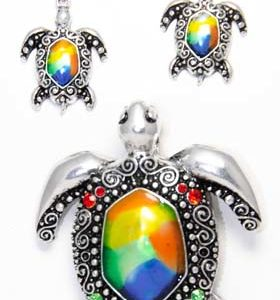 sea turtle earring set