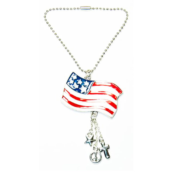 american flag car charm