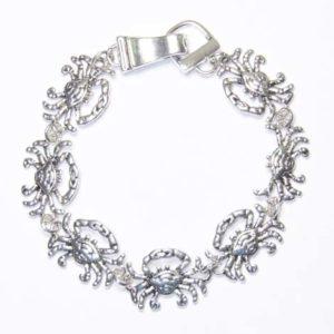 silver crab bracelet