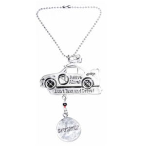 don't text and drive car charm