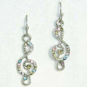 g clef earrings