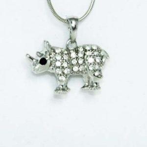 rhino necklace