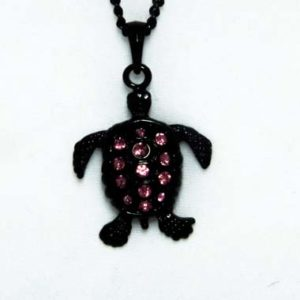 black turtle necklace