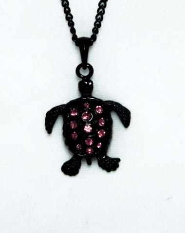 black turtle necklace