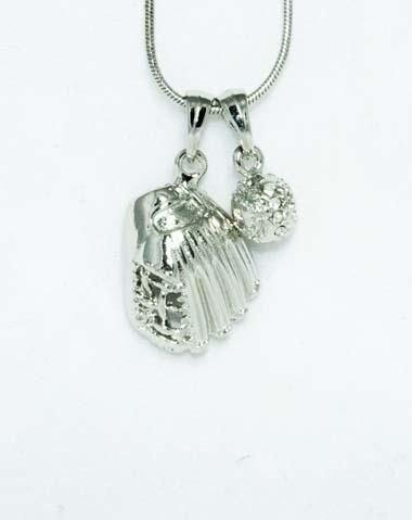 basbeall glove necklace