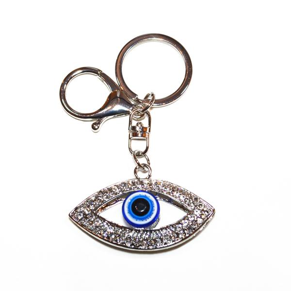 lucky eye bag and key charm