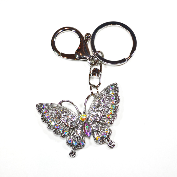 butterfky bag and key charm
