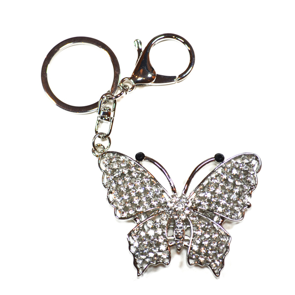butterfly bag and key charm