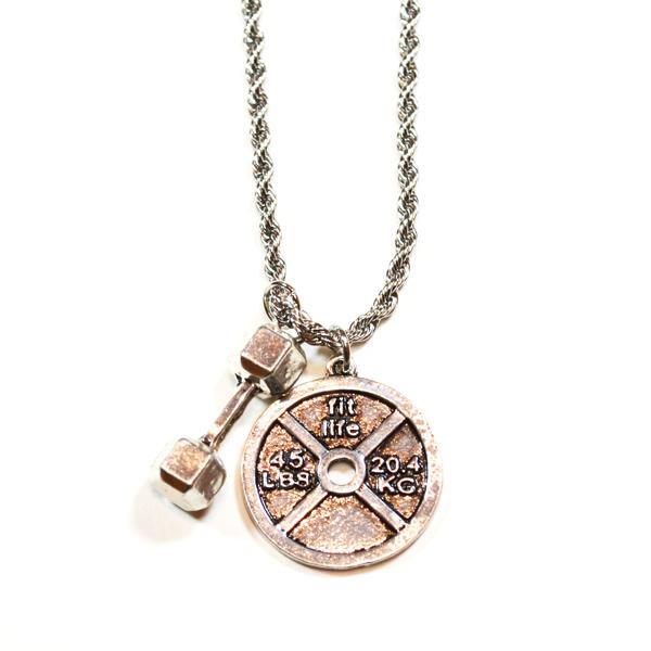 dumbells necklace