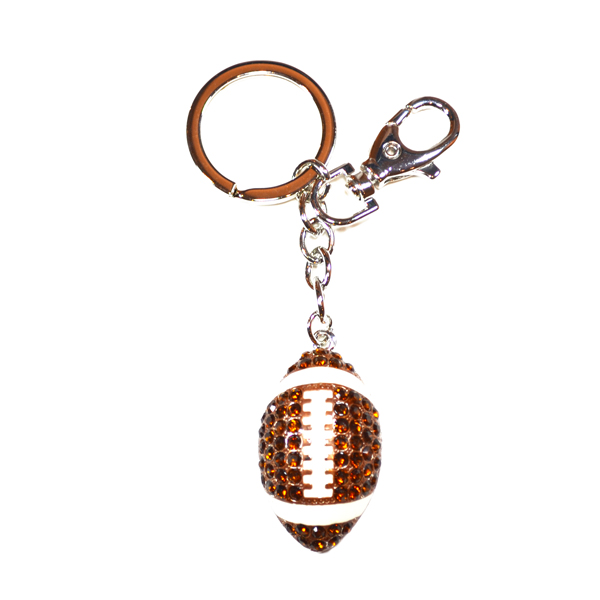 football bag and key charm
