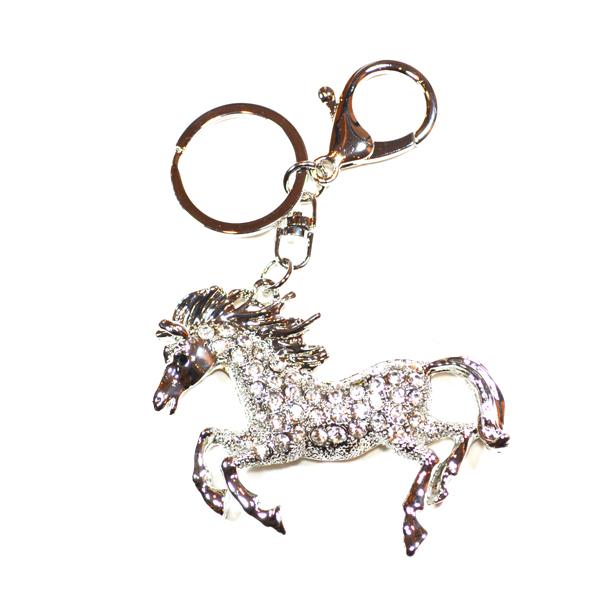 galloping horse bag and key charm