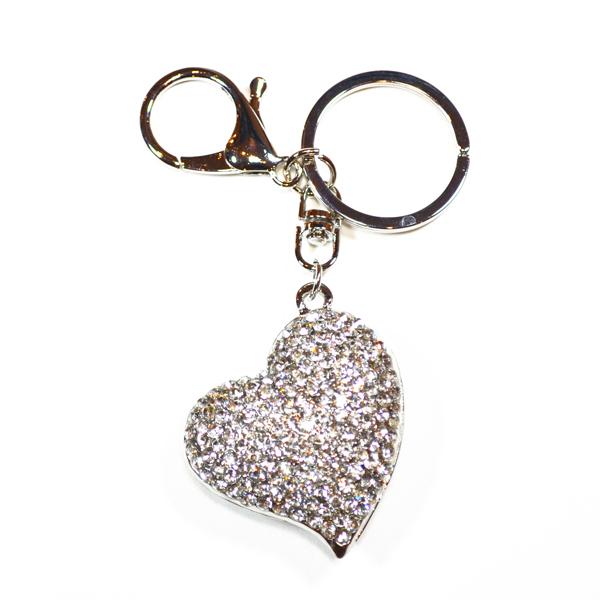heart bag and key charm