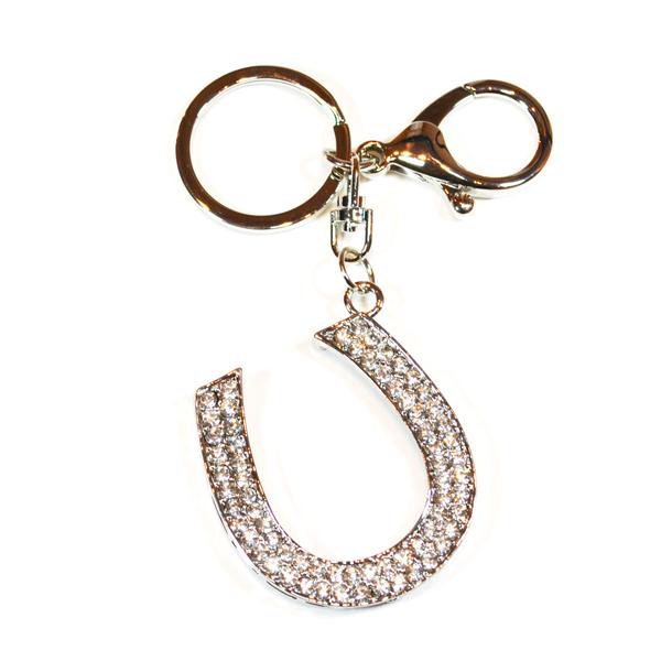 horseshoe bag and key charm