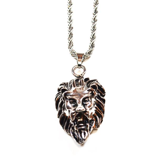 lion head necklace