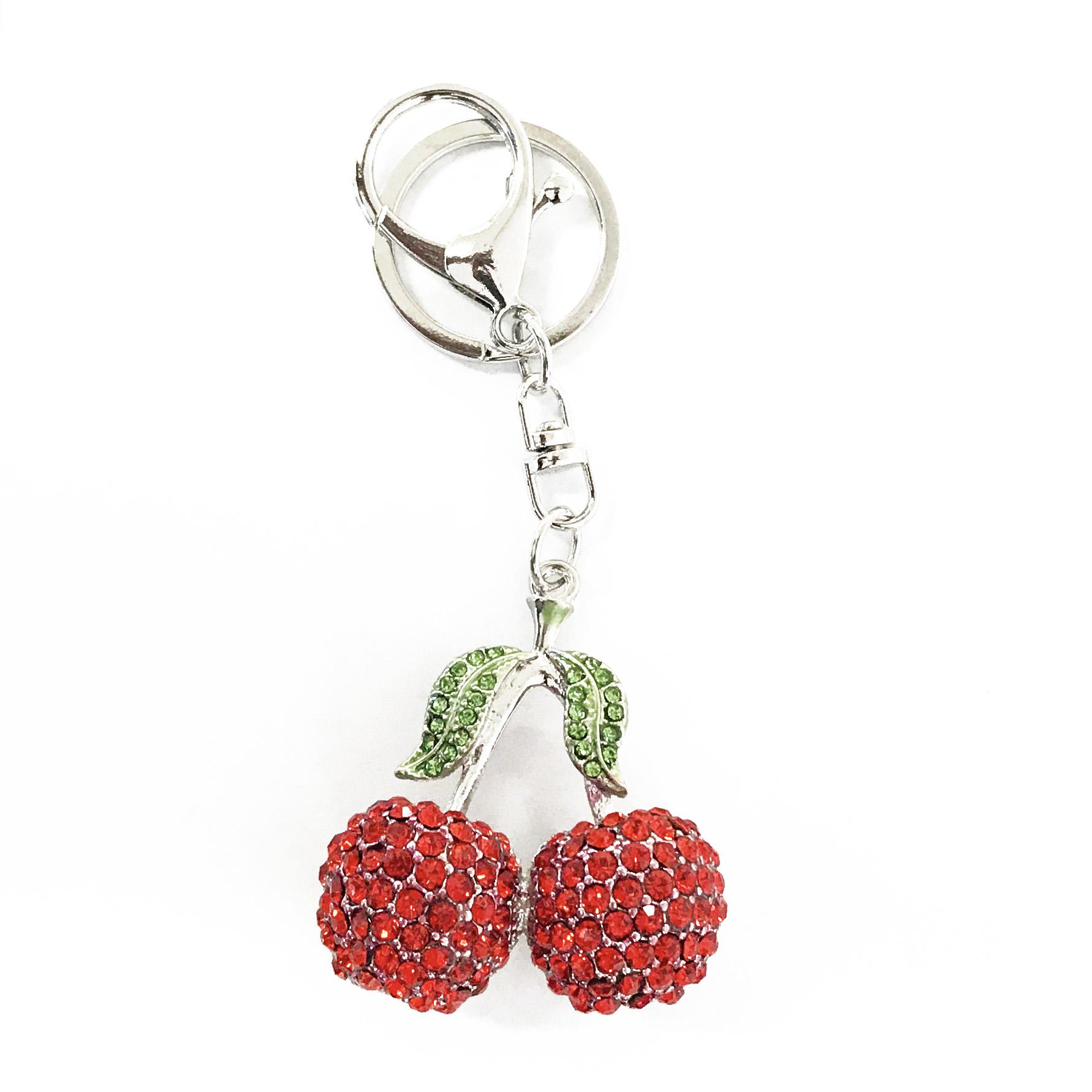 cherries bag charm