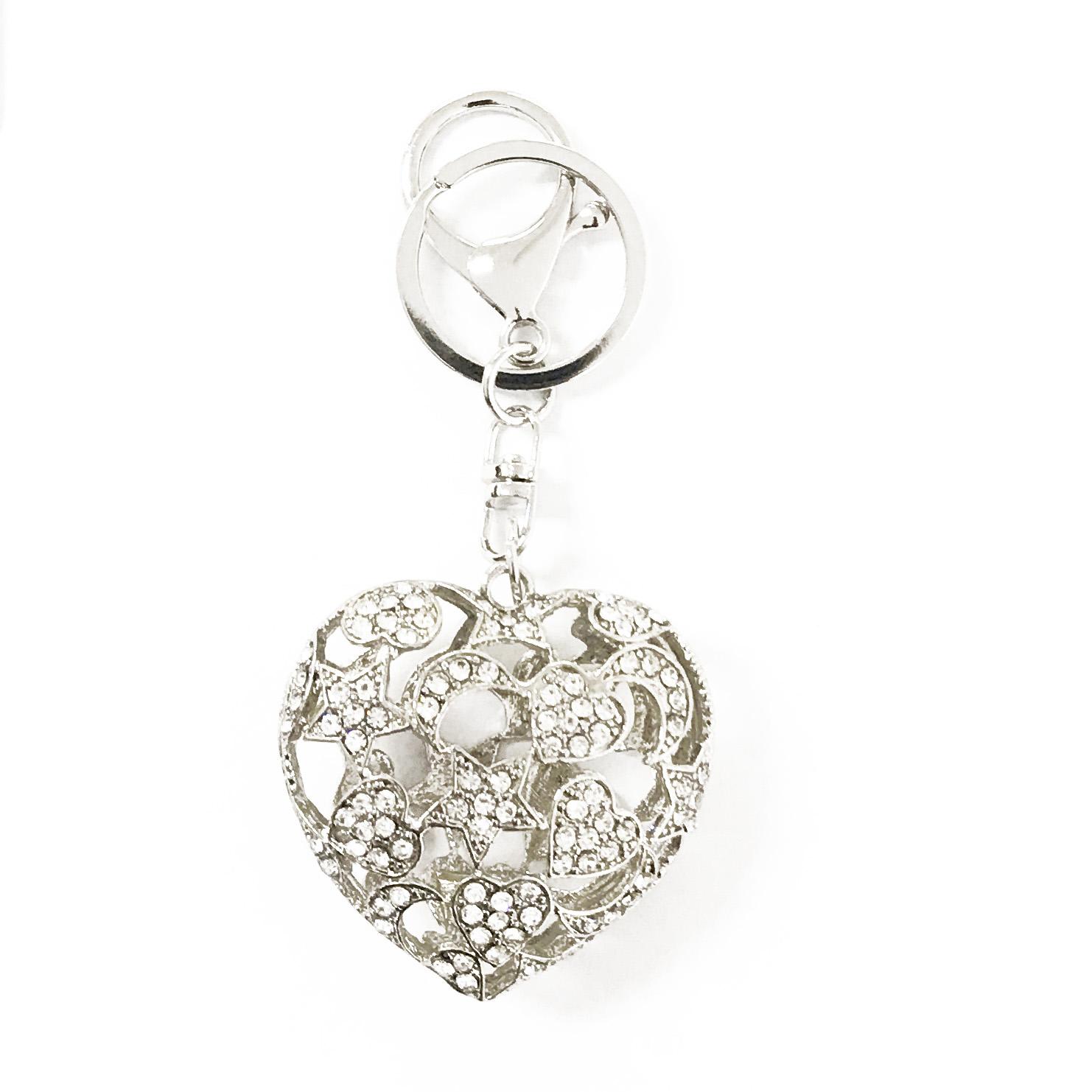 heart key chain and bag charm