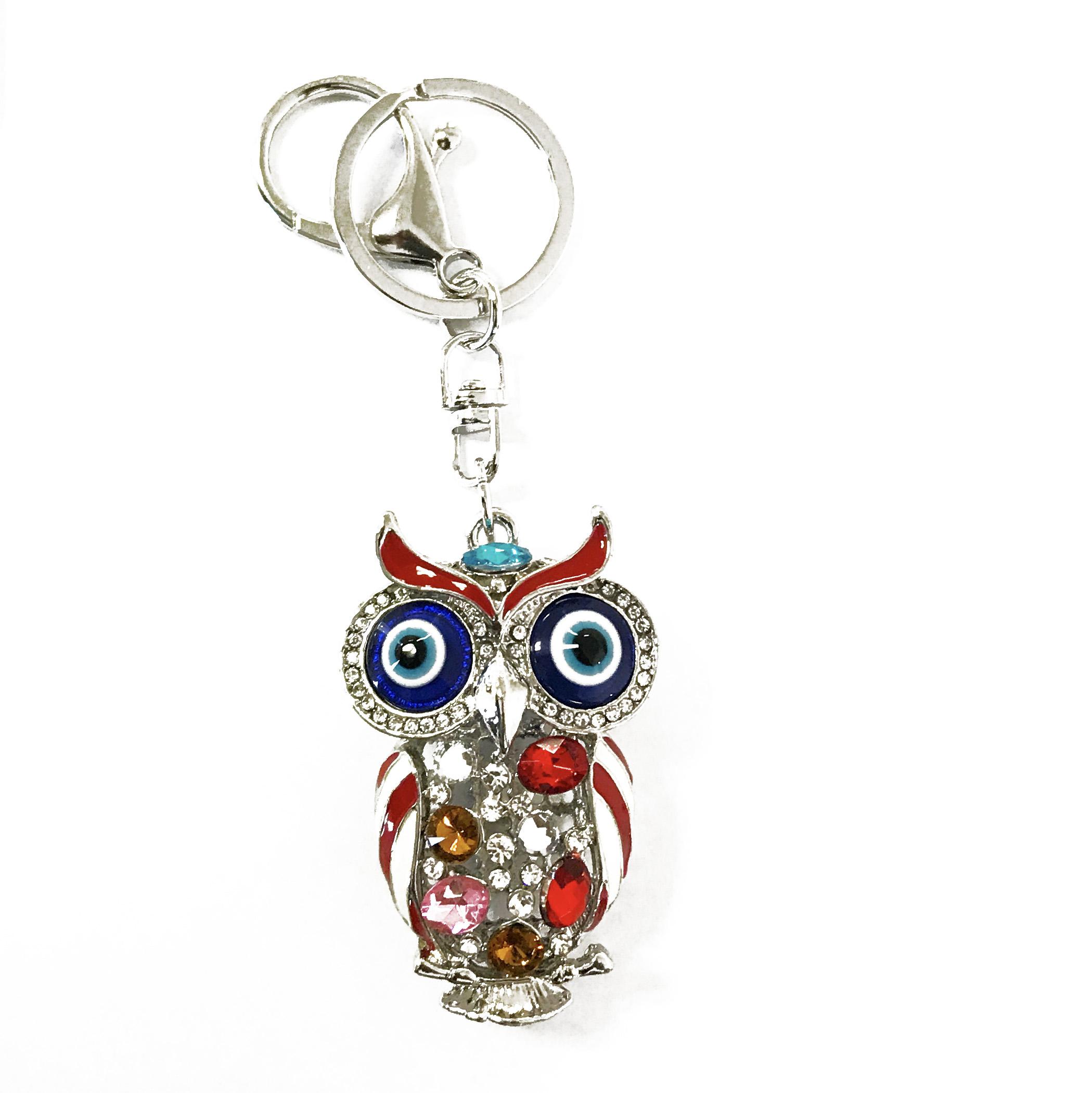 owl key chain and bag charm