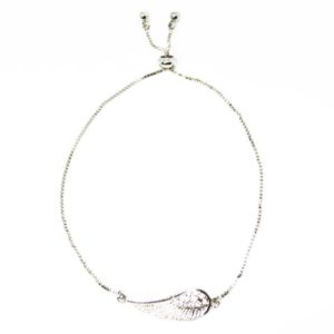 adjustable angel wing bracelet