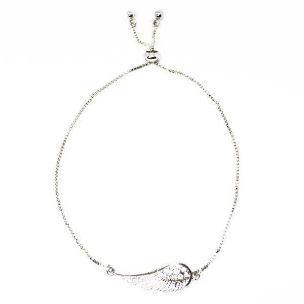 adjustable angel wing bracelet