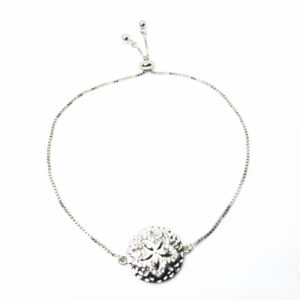 adjustable sand dollar bracelet