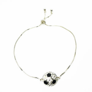 adjustable soccer ball bracelet