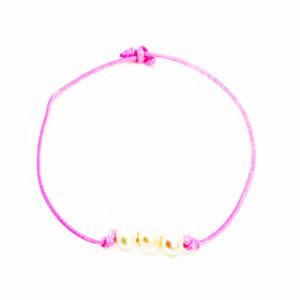triple pearl pink bracelet