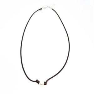 single pearl brown necklace
