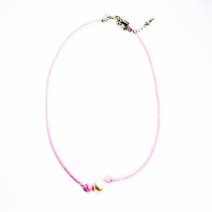 single pearl pink necklace