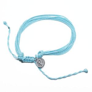 blue friendship bracelet