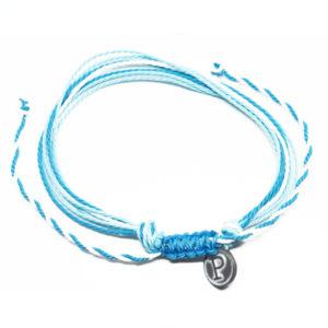 blue white friendship bracelet