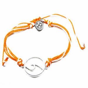 orange wave friendship bracelet
