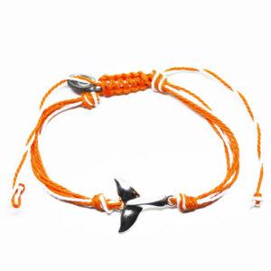 orange whale friendship bracelet