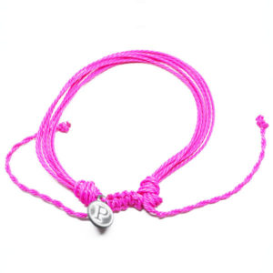 pink friendship bracelet