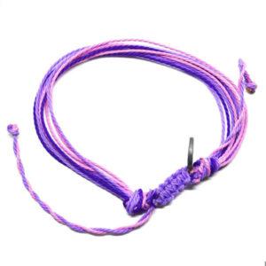 pink purple friendship bracelet
