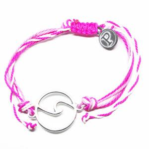 pink wave friendship bracelet