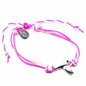 pink whale friendship bracelet