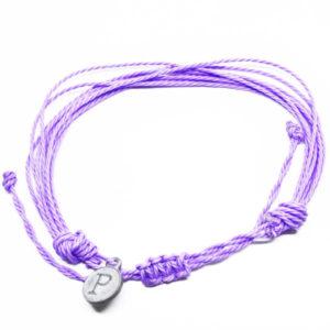 purple friendship bracelet