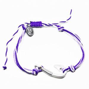 purple hook friendship bracelet