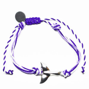 purple wave friendship bracelet